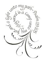 Copy of Psalm 119-105 flourishing and calligraphy