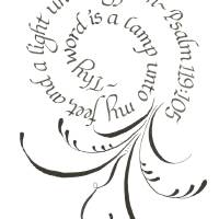 """Copy of Psalm  flourishing and calligraphy"" by Sarah Hulslander"