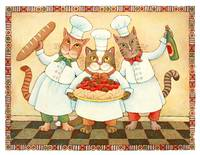 Chef Cats with Spaghetti