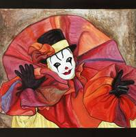 Carnival Clown Painting