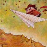 """Paperplane Boy (2)"" by Lucialtrove"