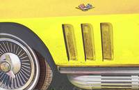 1965 Corvette Side Vent - Driver Side-Yellow