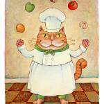 """Chef Cat Juggler"" by ddhearn"