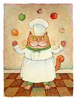 Chef Cat Juggler