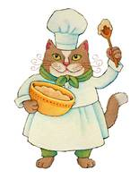 Chef Cat with Batter