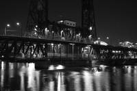 steel bridge, portland oregon (from westside)