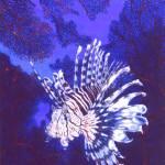 """""""lionfishwithseafan"""" by beloteoceanart"""