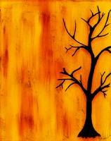 Black Tree On Fire