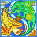 """Dragon versus Phoenix"" by AleonArt"