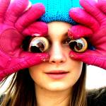 """Pink gloves and seashell eyes"" by MeghanAndrews"