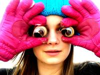 Pink gloves and seashell eyes