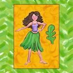 """Hula Girl"" by jennypdesign"