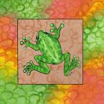 """Green Frog"" by jennypdesign"