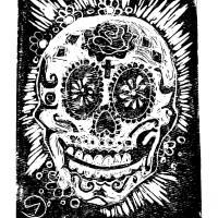 skull 017 Art Prints & Posters by Noelle Hunt