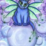 """Bubble Fairy Cat"" by tigerpixie"