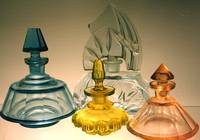 Antique Cut-Glass perfume Bottles