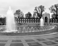 World War II Memorial in Washington DC (B+W)