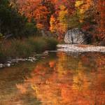 """""""Autumn Reflections at Lost Maples"""" by PaulHuchton"""