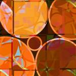 """Linked Circles (Orange Hues)"" by piecesofrob"