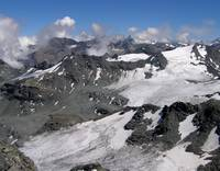 Glaciers at Mont Fort in Switzerland