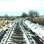 """Snowy Sidetrack Curve"" by anichols111"