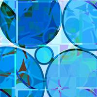 Linked Circles (Blue)