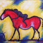 """Primalhorsewoman.livestockmarker.12x18"" by KarrieSteely"