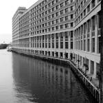 """Chicago River II - Black and White"" by dejoyaphotography"