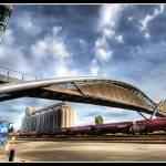 """Helix Pedestrian Bridge"" by mcdeez"