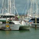 """marina tourists Hervey Bay Queensland Australia"" by shanmaree"