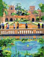Bridge in Balboa Park by Riccoboni