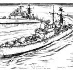"""Type 42 Destroyers HMS Nottingham & HMS Cardiff"" by Daniel_Bollans"