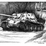"""Jagdpanther WWII German Tank Destroyer"" by Daniel_Bollans"