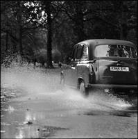 London Cab in the Rain 2, London