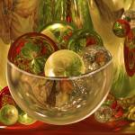 """Christmas Bowl of Amazing Circles"" by tricia"