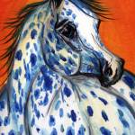 """""""Blue Spotz"""" by EquineArtTreasures"""