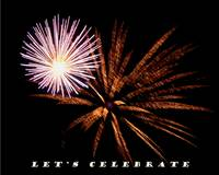 Let's Celebrate  New Years Card