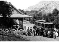 Alum Rock Park, trolley, San Jose c1890 by WorldWide Archive