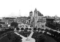 Downtown San Jose, Electical tower in background c by WorldWide Archive
