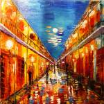 """""""bourbon St New Orleans at night"""" by jehangalleria"""