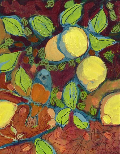 "Lemon Tree Artwork Perched in The Lemon Tree """