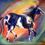 """""""Abstract Paint Horse"""" by EquineArtTreasures"""