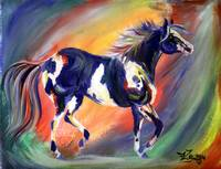 Abstract Paint Horse