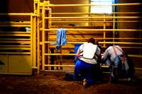 Rodeo Clowns in prayer
