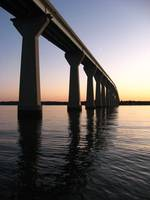 Patuxent River Bridge at Sunset