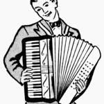 """Accordion Man from 1950 ad"" by arcaniumantiques"