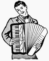 Accordion Man from 1950 ad