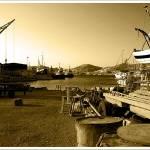 """Daybreak in the boatyard III"" by andzer"