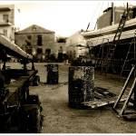 """Daybreak in the boatyard"" by andzer"