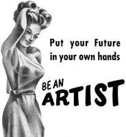 Be an Artist, 1950 mail-order art school ad